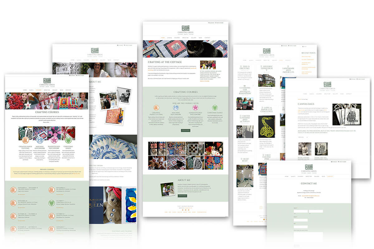 Christine Green Crafting website