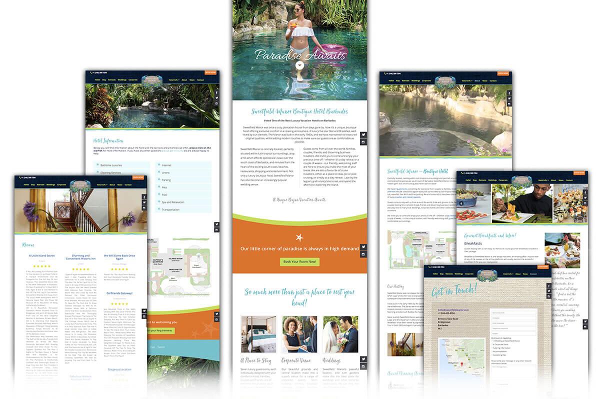 Sweetfield Manor website