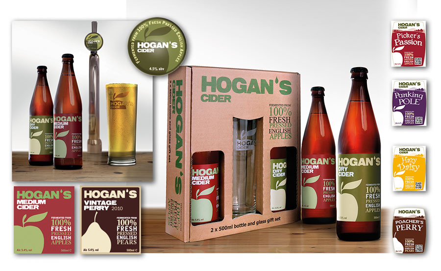 Hogan's cider packaging