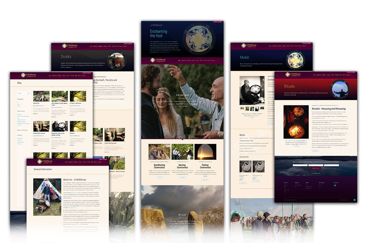 Druid, JJ Middleway's website