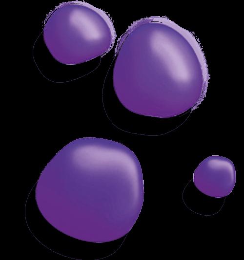 purple blobs