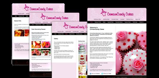 Crimson Candy Cakes